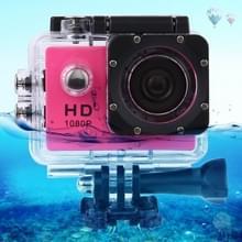 SJ4000 Full HD 1080P 1.5 inch LCD sport Camcorder met waterdichte hoes 12.0 Mega CMOS Sensor 30m Waterproof(Magenta)