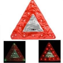 15 LED driehoek Emergency auto waarschuwing veiligheids verkeersbord rood (rood)