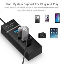 4 Poorts USB 3.0 HUB  super snel 5Gbps  Plug en Play  met LED Power Indicator  BYL-P104 (zwart)