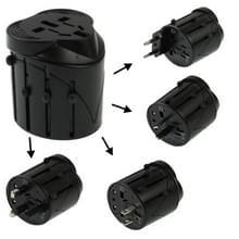 All-in-1 EU + UK + AU Amerikaanse Plug Travel universele adapter  formaat: 60 x 58 x 56mm(Black)