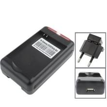 Universal USB Output Style Battery Charger for Galaxy Ace S5830 (EU Plug)