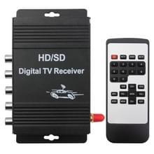 High Speed ISDB-T Mobiele Digitale TV Receiver voor in auto, geschikt voor Brazil / Peru / Chile etc. Zuid Amerikaanse Markt(zwart)
