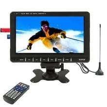 9 8 inch Wide LCD mini monitor/analoog TV met FM-Radio  ondersteuning voor SD/MMC-kaart  USB flash disk(Black)