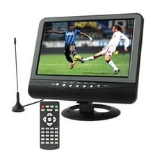 9.5 inch TFT LCD kleurentelevisie  draagbare analoge TV met weids uitzicht hoek  ondersteuning voor SD/MMC-kaart  USB Flash disk  AV In / AV uitgang  FM-Radio function(Black)
