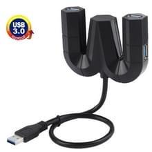 5Gbps Super snelle 4 Poorts USB 3.0 HUB (zwart)