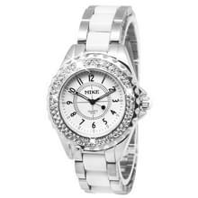 Witte wijzerplaat mannen Diamond Quartz Stainless Steel Watch / Watch (echt) paar