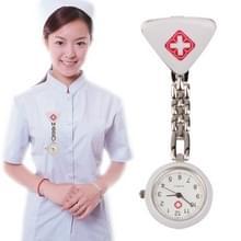 Draagbare legering verpleegkundige ronde Quartz horloge horloge met Pin(Silver)