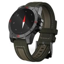 N10 1.22 inch ronde IPS scherm buiten Waterdicht Smart hartslag monitor Watch  steun stappenteller / kompas / anti-verloren herinnering / Thermometer / hoogte / Remote Camera / Bel Indication(zwart)