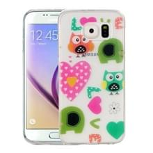 Samsung Galaxy S6 / G920 Glossy LOVE uilen patroon TPU back cover Hoesje