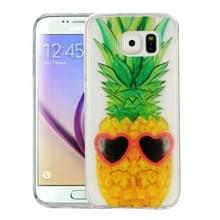 Samsung Galaxy S6 / G920 Glossy grappig ananas patroon TPU back cover Hoesje