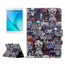 Voor Galaxy Tab een 9.7 / T550 Ghost hoofd patroon horizontale Flip leerhoes met houder & kaartsleuven & portemonnee