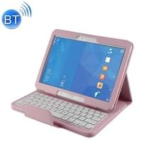 Voor Galaxy Tab 4 10.1 / T530 scheidbaar Litchi textuur horizontaal flip leerhoes + Bluetooth toetsenbord met houder & Selfie Function(Pink)