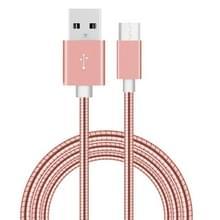 1m USB-C / Type-C Male 3.1 naar USB 2.0 mannelijke Data Sync laad Metal Wire voorjaar Kabel  Voor Samsung Galaxy S8 & S8 + / LG G6 / Huawei P10 & P10 Plus / Xiaomi Mi6 & Max 2 nl andere Smartphones (Rose Goud)
