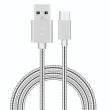 1m USB-C / Type-C Male 3.1 naar USB 2.0 mannelijke Data Sync laad Metal Wire voorjaar Kabel  Voor Samsung Galaxy S8 & S8 + / LG G6 / Huawei P10 & P10 Plus / Xiaomi Mi6 & Max 2 nl andere Smartphones(zilver)