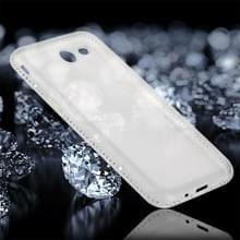 Voor Galaxy J3 (2017) Encrusted (Amerikaanse versie) Diamond transparante zachte TPU beschermende Back Cover Case (transparant)