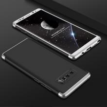 GKK voor Galaxy Note 8 PC 360 graden beschermhoes volledige achterste schutblad (zwart + zilver)