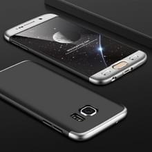 GKK voor Galaxy S7 PC 360 graden beschermhoes volledige back cover(Black+Silver)