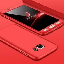 GKK voor Galaxy S7 PC 360 graden beschermhoes volledige back cover(Red)