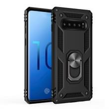 Sergeant Armor schokbestendige TPU + PC beschermende Case voor Galaxy S10  met 360 graden rotatie houder (zwart)