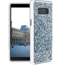 Voor Galaxy Note 8 Diamond serie Electroplating PC TPU beschermende Case(Blue)