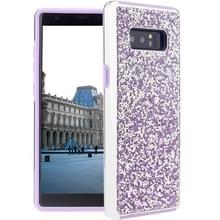 Voor Galaxy Note 8 Diamond serie Electroplating PC TPU beschermende Case(Purple)