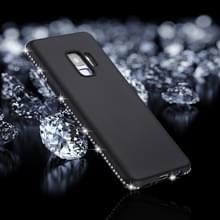Voor Galaxy S9 Frosted Crystal Decor zijden zachte TPU terug beschermhoes (zwart)