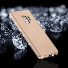 Voor Galaxy S9 Frosted Crystal Decor zijden zachte TPU terug beschermhoes (goud)