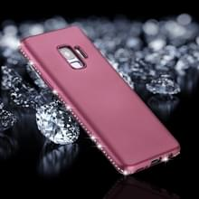 Voor Galaxy S9 Frosted Crystal Decor zijden zachte TPU terug beschermhoes (paars)