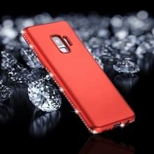 Voor Galaxy S9 Frosted Crystal Decor zijden zachte TPU terug beschermhoes (rood)