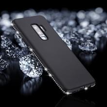 Voor Galaxy S9 PLUS Frosted Crystal Decor zijden zachte TPU terug beschermhoes (zwart)