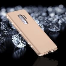 Voor Galaxy S9 PLUS Frosted Crystal Decor zijden zachte TPU terug beschermhoes (goud)