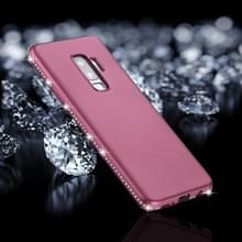 Voor Galaxy S9 PLUS Frosted Crystal Decor zijden zachte TPU terug beschermhoes (paars)