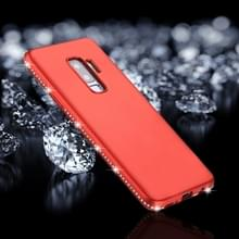 Voor Galaxy S9 PLUS Frosted Crystal Decor zijden zachte TPU terug beschermhoes (rood)