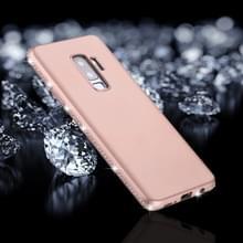 Voor Galaxy S9 PLUS Frosted Crystal Decor zijden zachte TPU terug beschermhoes (Rose goud)