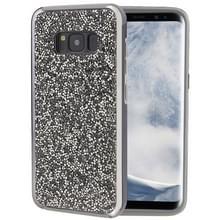 Voor Galaxy S8 Diamond serie galvaniseren PC TPU beschermende Case(Black)