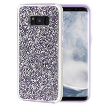 Voor Galaxy S8 Diamond serie galvaniseren PC TPU beschermende Case(Purple)