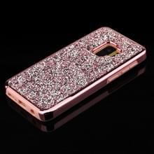 Voor Galaxy S9 Diamond serie galvaniseren PC TPU beschermhoes (Rose goud)