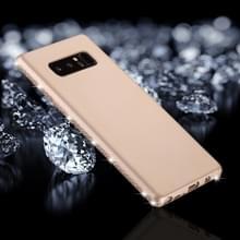 Voor Galaxy Note 8 Frosted Crystal Decor zijden zachte TPU terug beschermhoes (goud)