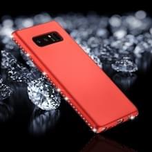 Voor Galaxy Note 8 Frosted Crystal Decor zijden zachte TPU terug beschermhoes (rood)