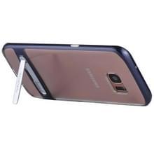 Samsung Galaxy S7 Edge gegalvaniseerd en schokbestendig MERCURY GOOSPERY TPU back cover Hoesje met houder (donker blauw)