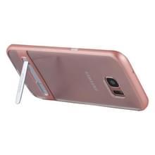 Samsung Galaxy S7 Edge gegalvaniseerd en schokbestendig MERCURY GOOSPERY TPU back cover Hoesje met houder (roze goudkleurig)