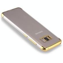 Voor Galaxy S8 dekken driedelig galvaniseren kant beschermende terug TPU Case (goud)