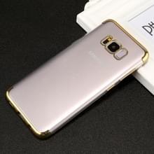 Voor Galaxy S8 PLUS / G955 driedelig galvaniseren kant TPU beschermende terug kaft geval (goud)