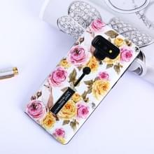 Bloemen patroon reliëf geschilderd TPU + PC geval met houder voor Galaxy Note9 (Chinese Rose en vogels)