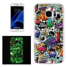 Voor Galaxy S7 / G930 Noctilucent vuilnis patroon IMD vakmanschap zachte TPU beschermhoes