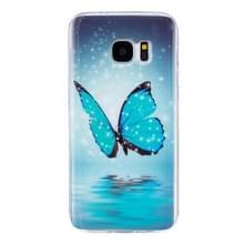 Voor Galaxy S7 / G930 Noctilucent vlinder patroon IMD vakmanschap zachte TPU beschermhoes