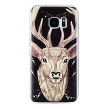 Voor Galaxy S7 / G930 Noctilucent Deer patroon IMD vakmanschap zachte TPU beschermhoes