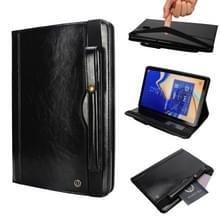 "Horizontale Flip leren Case voor Galaxy Tab S4 T830 10 5 inch  met dubbele kaart slots"" & Pen ""slots"" & houder & portemonnee & Foto Frame(Black)"""