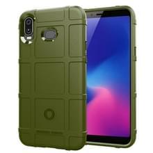 Schokbestendige Protector Cover volledige Silicone Case voor Samsung Galaxy A6s (leger-groen)