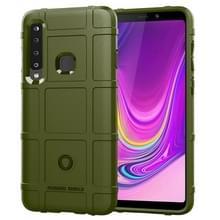Schokbestendige Protector Cover volledige siliconen beschermhoes voor Galaxy A9 (2018) (leger-groen)